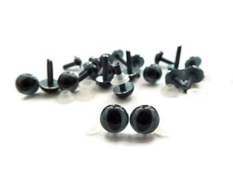 7.5 mm Cat Eyes Safety Eyes Plastic Eyes Animal Eyes Toy Eyes -10 pairs