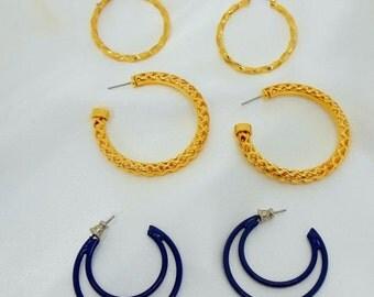 Biggest Sale Ever Vintage Earring Lot Hoop Pierced