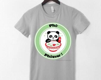 Pho Phoever Panda T-Shirt - Grey