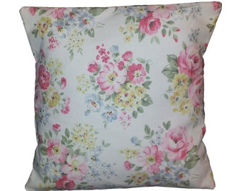 """Cushion Cover in Cath Kidston Spring Bouquet White 16"""""""
