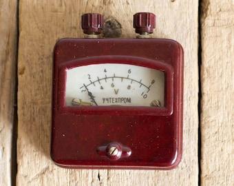Vintage Voltmeter, Bakelite School Laboratory Voltmeter 1960's