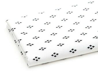 Diamond Fabric, Black and White Cotton Fabric, Geometric Fabric - Fabric By the Yard 83461