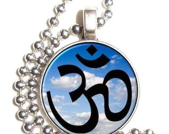 Om Hindu Sacred Sound Art Pendant, The Greatest of all Mantras, Photo Resin Pendant Charm