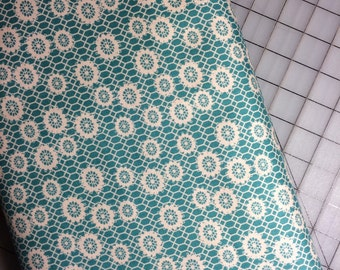 Half Yard cut of Denyse Schmidt Ansonia - Honeycomb Lace in Mossy 100% cotton by Free Spirit PWDS 034