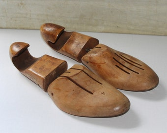 Vintage Wooden Shoe Forms - Bonds - Collectibles - Industrial Decor - Shoe Stretchers - Bookends