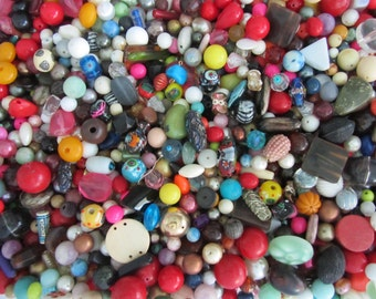 One Pound Assorted Vintage Bead Mix all from Broken Vintage Necklaces