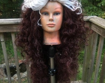 SALE Custom Rogue Xmen Two Color Wig 90s Style