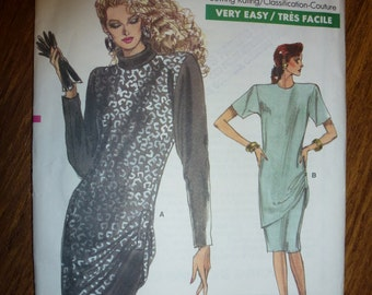 Vintage Very Easy Very Vogue Pattern 7062 Misses' Dress  Pattern   Sizes 8-10-12