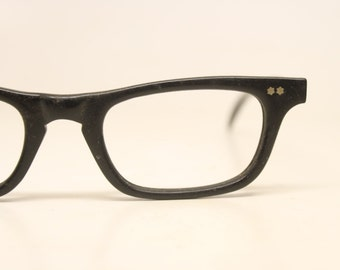 American Optical Vintage Eyeglasses  Small Black  1970s Retro Eyeglass Frames