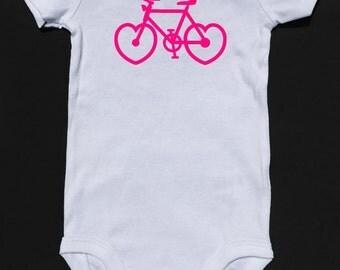 Heart Bicycle Baby Onesie Kids Top
