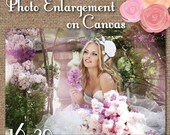 Canvas PHOTO 16x20 size Bridal Portrait / Engagement Print / Professional photo enlargements on real canvas #CanvasPhotoPrint