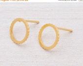 SALE Valentines day gold stud earrings, sun earrings, cute round post earrings.