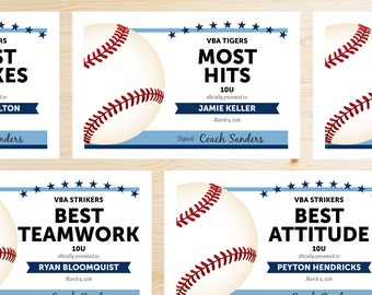 Participation award etsy for Baseball awards ideas