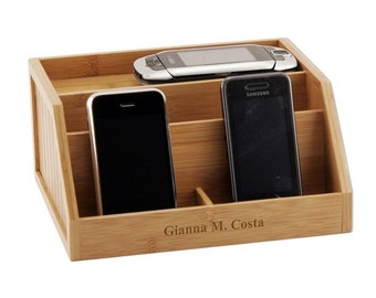 Customized Bamboo Electronic Charging Station