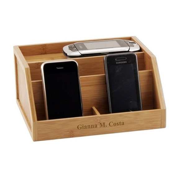 customized bamboo electronic charging station. Black Bedroom Furniture Sets. Home Design Ideas