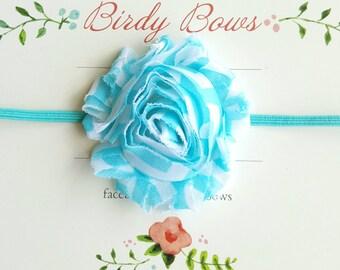 Aqua Chevron Headband, Baby Headbands, Infant Headbands, Baby Bows, Baby Girl Headbands, Infant Bows, Newborn Headbands