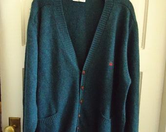 Vintage 90s BENETTON WOOL Oversized Cardigan sz XL