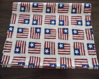 Patriotic Flag Table Runner - Scarf, USA Flag Table Runner - Scarf, Home Decor