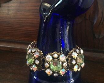 Vintage mid century Florenza aurora borealis bracelet
