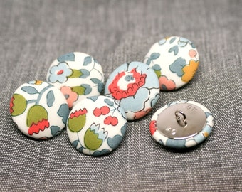 Liberty of London Betsy Grey Fabric Covered Buttons