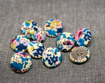 Liberty of London Claire Aude Turquoise Fabric Covered Buttons