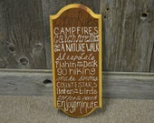 Cabin Rules Original Hand Painted Wooden Sign Wall Decor