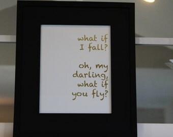 What if I fall 8x10 Print