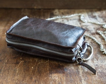 Leather Clutch, leather purse,  Handbag, leather clutch bag
