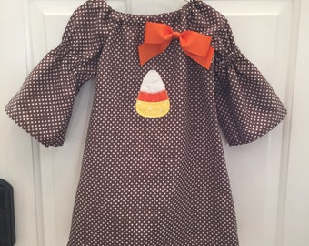 Candy Corn Applique Dress