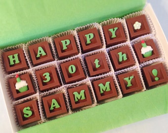 Chocolate Birthday Gifts - Birthday Chocolate - Unique Gifts - Birthday Present - Happy Birthday Gift - Gift for Him - Birthday Gift