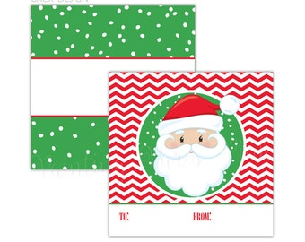 Faces of Christmas Gift Tags | 4 Designs To Choose From | Printed on Both Sides | Pack of 25