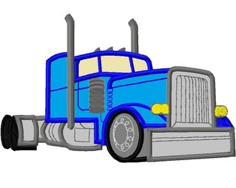 Heavy Duty Truck APPLIQUE Embroidery Design 3 sizes INSTANT DOWNLOAD