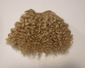 Mohair weft, Waldorf doll hair, Curly, Blond