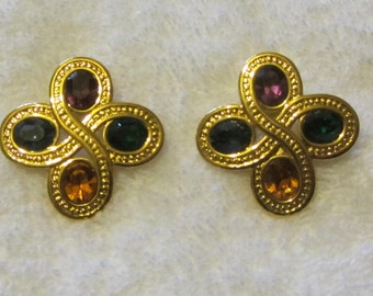 Beautiful Four Color Napier Earrings