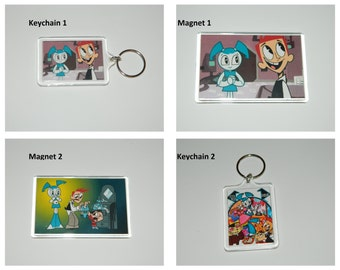 My Life as a Teenage Robot Jenny Keychain or Magnet Choice of Images