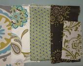 Remnant/Scrap Fabric - blue/green fabric