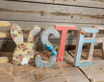 Easter letters.. Easter Decor.