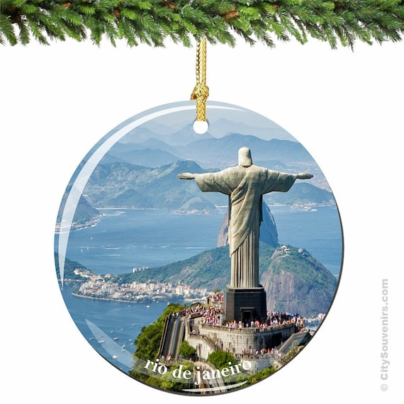 Christmas Ornaments From Brazil : Rio de janeiro christ the redeemer christmas by citysouvenirs