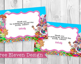 Candyland PRINTABLE Thank You Card