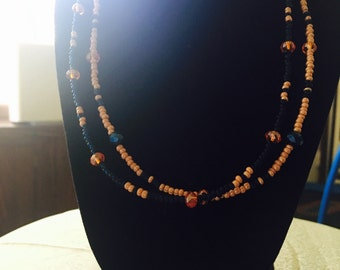 Seed bead and Shell Necklace