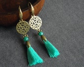 BO 138 - Earrings - Howlite - Boho - Gypsy - Bahia Del Sol.