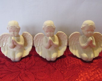 Vintage Trio of Ceramic Angels