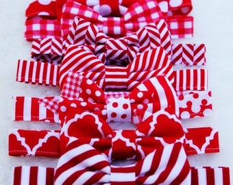 YOU CHOOSE!!  Red and White Bow Ties,  Boys, Baby, Toddler, Big Boy Bowtie, Photo Prop, Birthday, Holiday, Wedding