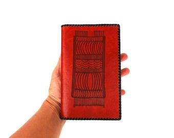 Mens wallet Leather mens wallet Large mens wallet Soviet vintage UNUSED mens wallet Estonia Embossed leather Tooled leather Gift for dad