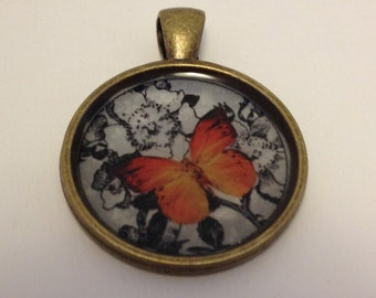 Painted Lady Butterfly Pendant