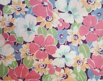 Cotton Lawn Floral Print by Andover Fabrics, Division of Concord Fabrics