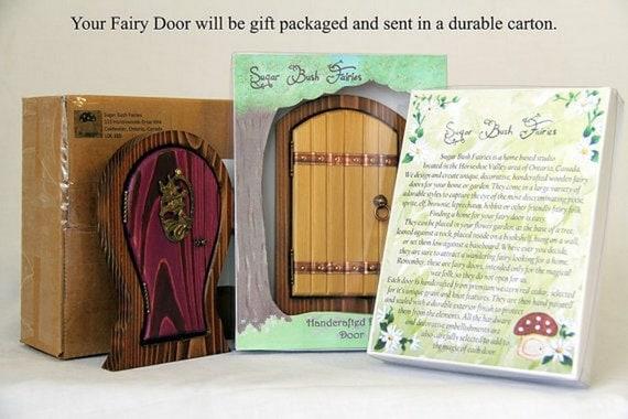 Rainbow fairy door for home and garden for Rainbow fairy door