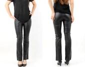 Black Leather Pants Size 34 Reflex