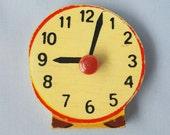 Vintage wooden puzzle piece magnet / Clock / magnet/ Simplex magnet