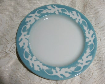 Syracuse Restaurant China Blue Maple  Leaves DinnerPlate  Very Good  in Like new condition
